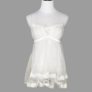 VICTORIA'S SECRET BRIDAL White Babydoll Lingerie S